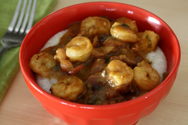 Shrimp Gravy over Grits