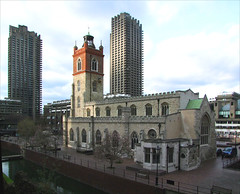 St Giles Cripplegate and the Barbican Towers