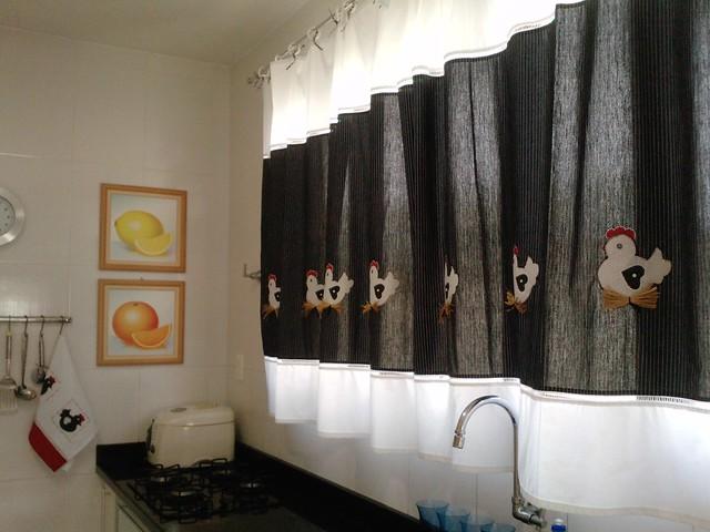 cortina de cozinha  galinha  Flickr  Photo Sharing!