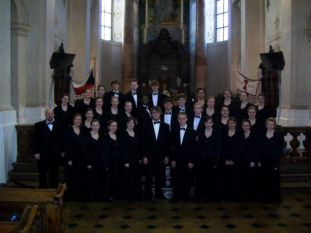 The Davidson Chorale in St. Nicholas Church, Old Town Square in Prague, Czech Republic