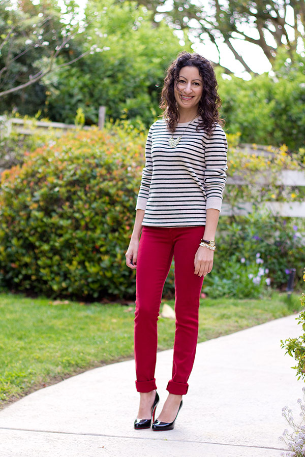 Gap 1969 Red Jeggings and a Sizing Discrepancy