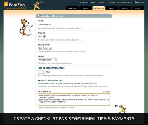 Creating a Checklist for Responsibilities, Penalties, and Payments