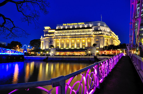 The Fullerton Hotel by Singapore River