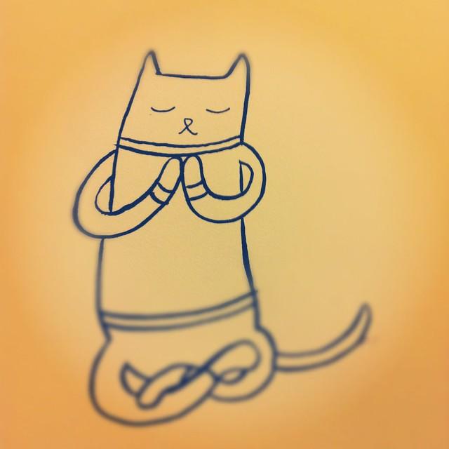 Yoga kitty.