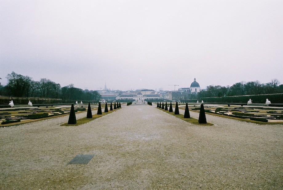 貝維德雷宮(Schloss Belverdere)庭園和下宮