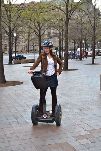 Hallo. I am on a Segway.