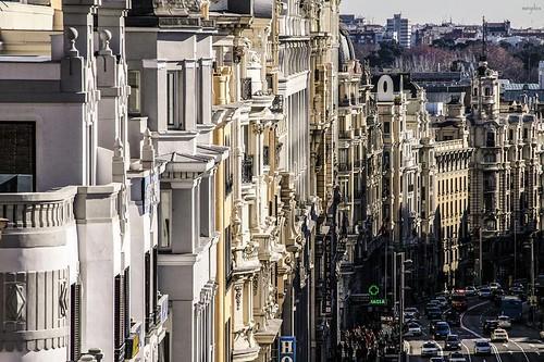 Gran Vía de Madrid (España) by margalice / marga