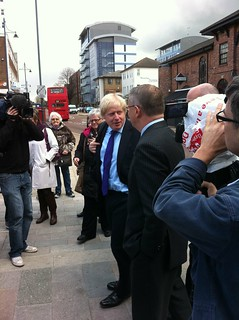Boris arriveert in Romford
