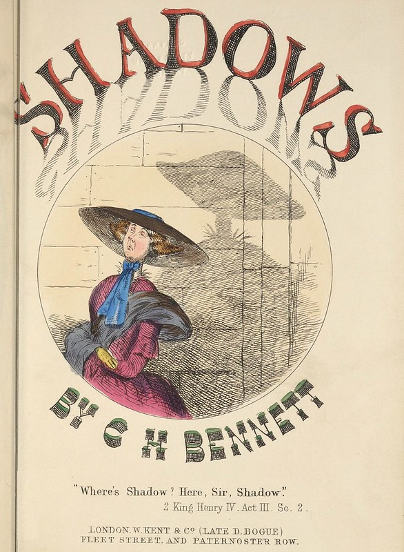 Shadows by CH Bennett (titlepage) (1850s coloured lithograph by CH Bennett)