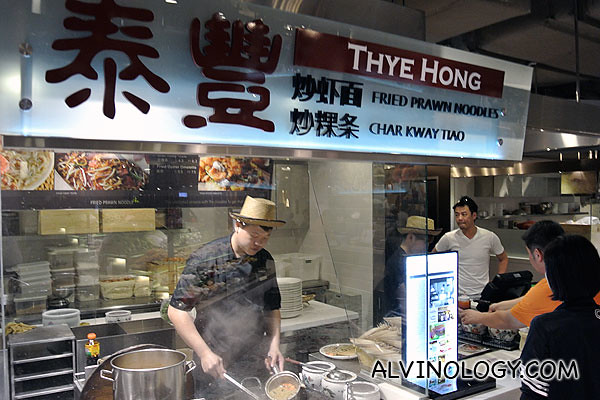 Thye Hong Fried Prawn Noodle stall