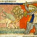 Dragon of the Apocalypse comes from the sea. 1220-70 France. miniature. Bib. de Toulouse