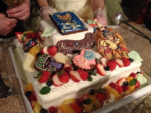 そしてウエディングケーキは ...