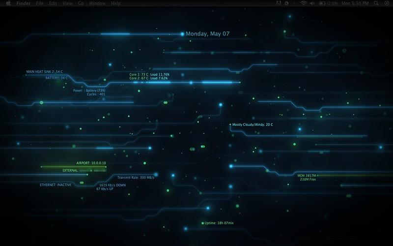 Another Tron Inspired Desktop