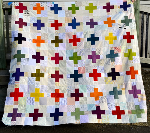 Oakshott and low volume quilt top complete