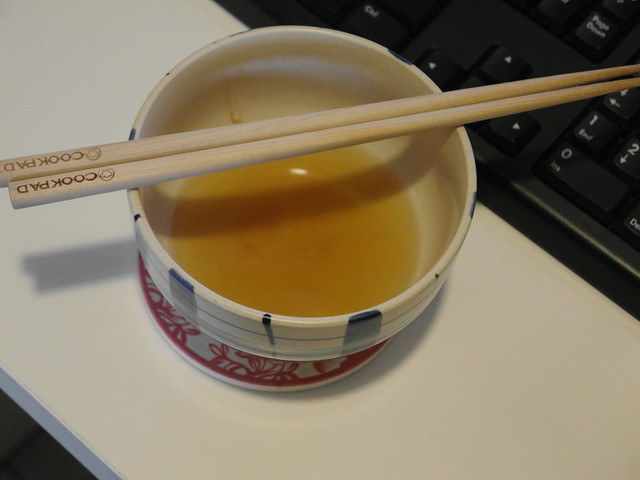 田原香滴雞精,熱完以後只有這麼小一碗XD