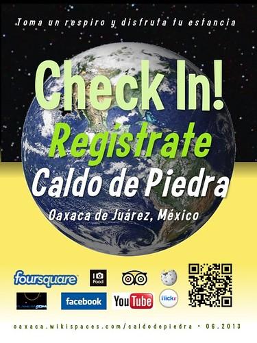 Caldo de Piedra Check In! Regístrate Oaxaca 06.2013