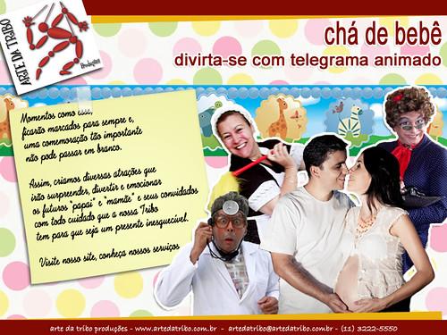 Arte daTribo - Telegrama Animado e Animação para CHA DE BEBÊ 2013 by Arte da Tribo Produções