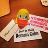 @GeoDuckie visiting Mikafowler.com's letterpress workshops