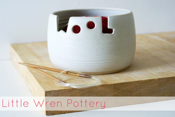 handmade things I'm loving right now (The 'wool' yarn bowl by Little Wren Pottery) | Emma Lamb