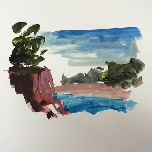 Trying #gouache