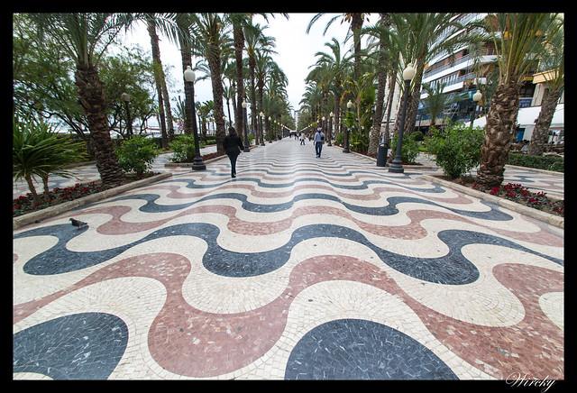 Himno de Alicante - Paseo de la Explanada de Alicante