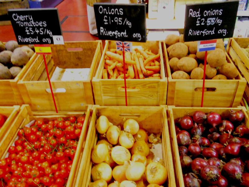 Real food display