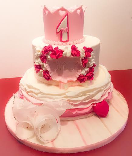 Sabrina Placentino's Lovely First Birthday Cake