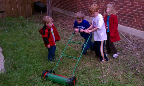 Fighting over the old-fashioned lawn mower by jbellis