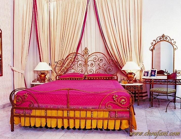 Harmony | - Harmony antique bed in reddish bronze finish ...
