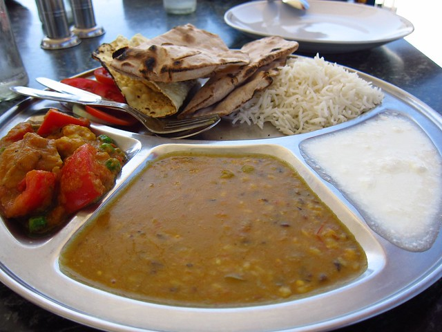 Thali #3, from a Rooftop Restaurant in Udaipur
