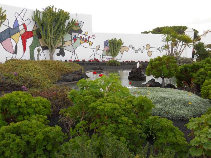 Estanque jardines Fundacion Cesar Manrique 1