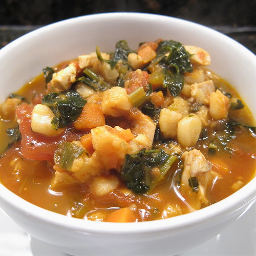 Hominy, Chicken and Kale Stew