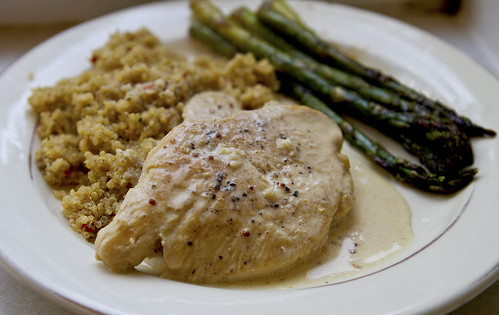 chicken with mustard cream sauce