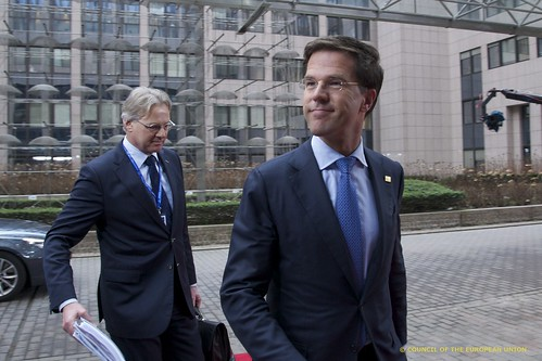 Mr Mark Rutte, Dutch Prime Minister, at the European Council