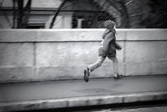 Running home (b/w version)