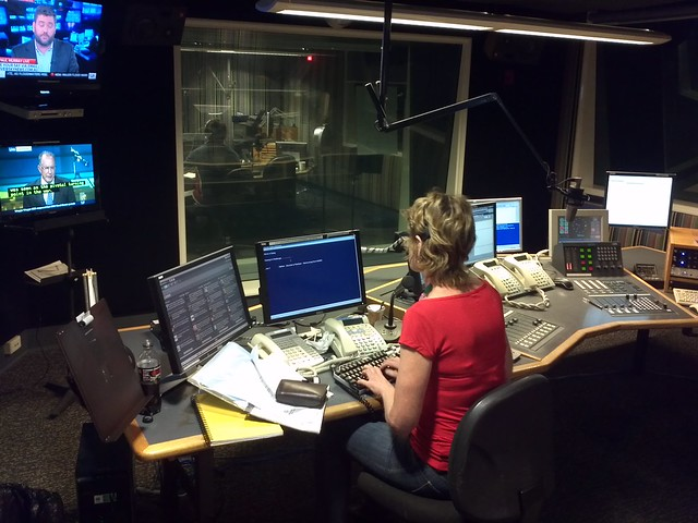 ABC Radio Producer multitasking - NSW/Canberra Evening show