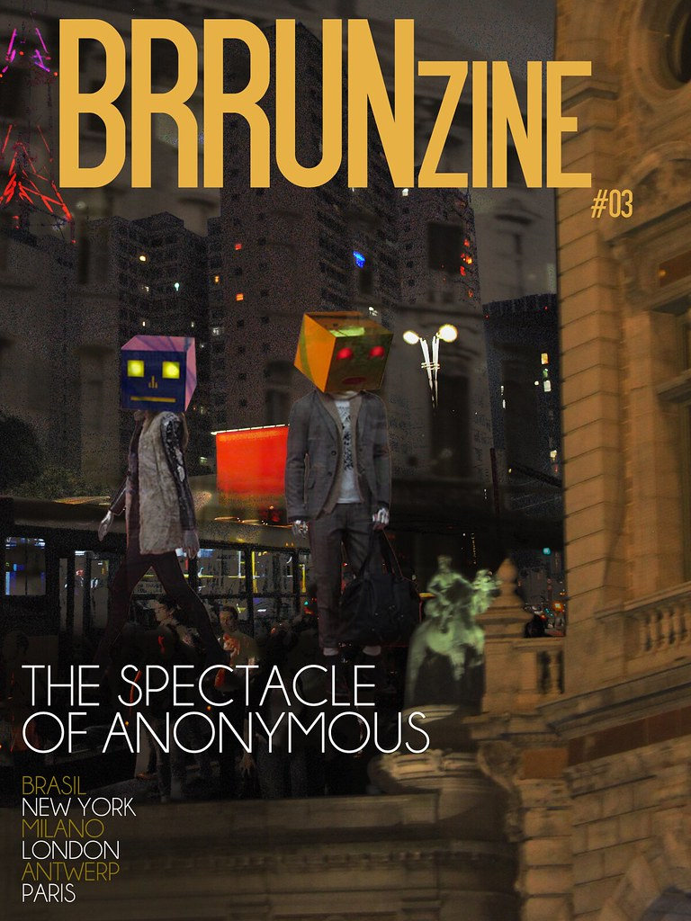 "BRRUNzine #03  — ""The spectacle of anonymous"" by Brunno Almeida Maia — Images by Luigi Passante & Naro Watanabe, Ligia Cristaldi and Adrian Mazzarolo — Creative Director: Bruno Capasso"