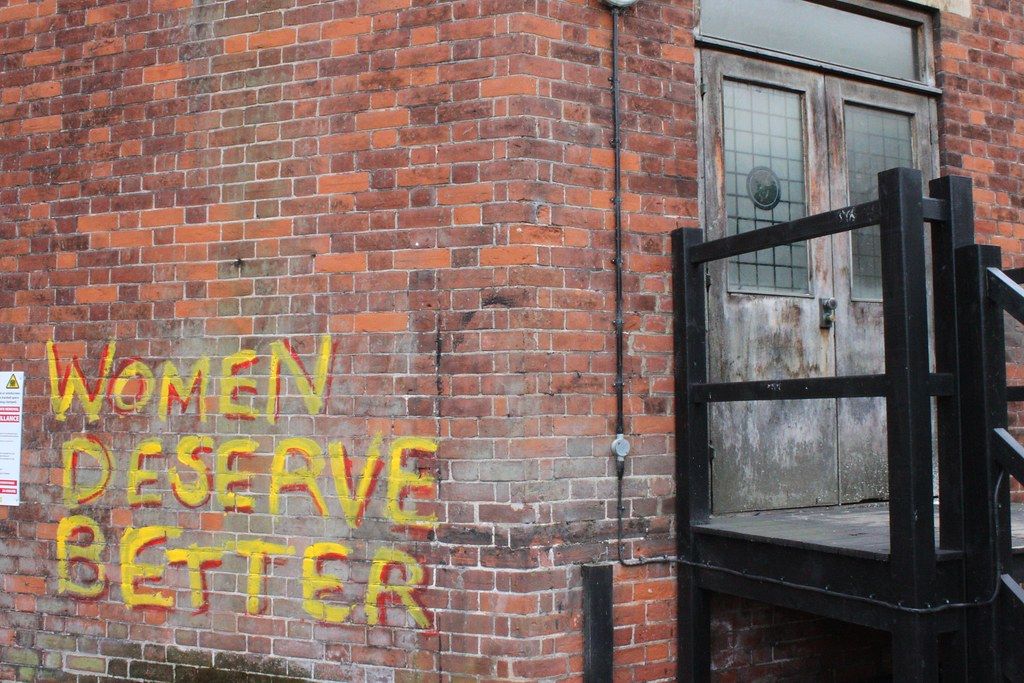 women deserve better chalked on a wall