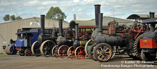 Steam engine lineup