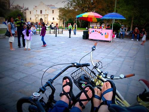 Feet at Alamo