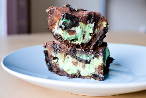 Minty Oreo cheesecake brownies