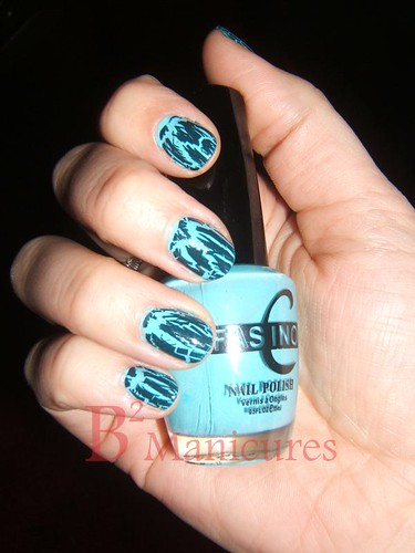 004 blue teal crackle