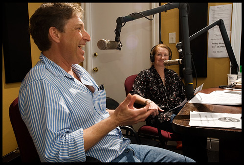 Scott Aiges of the Jazz & Heritage Foundation in studio. by Ryan Hodgson-Rigsbee