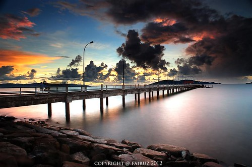 UMS jetty at dusk - Capturing the last light