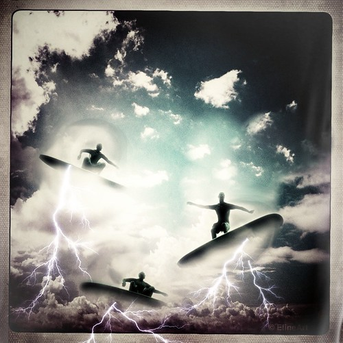 278/365- Cloud Surfers by elineart