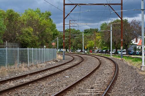 Melbourne train line
