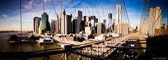 View of Manhattan from the Brooklyn bridge, New York City (NYC), USA... Manhattan vu du pont de brooklyn.