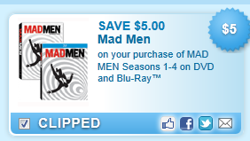 Mad Men Seasons Coupon