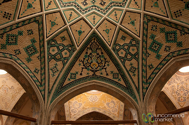 Ceiling at Khan-e Borujerdi Traditional House - Kashan, Iran