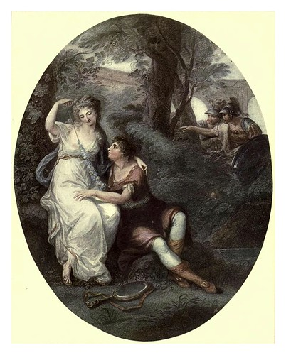 017-Reinaldo y Armida 1795-Angelica Kauffman-Old English colour prints 1909-Charles Holme